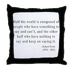 Robert Frost 14 Throw Pillow