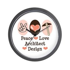 Peace Love Architecture Wall Clock