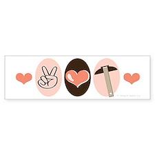 Peace Love Architecture Bumper Sticker (10 pk)