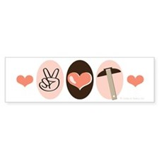 Peace Love Architect Bumper Sticker (50 pk)