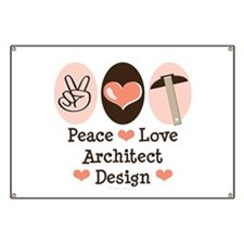 Peace Love Architecture Banner