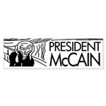 President McCain Scream Bumper Sticker