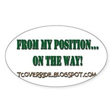 From My Position Oval Decal