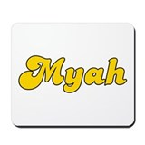 Retro Myah (Gold) Mousepad