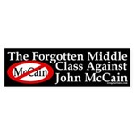 Middle Class Against McCain bumper sticker