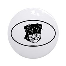 Oval Rottweiler Ornament (Round)