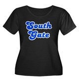 Retro South Gate (Blue) Women's Plus Size Scoop Ne