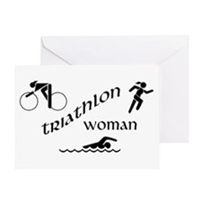 Triathlon Woman Greeting Card