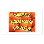 Sweet Georgia Peach Rectangle Sticker