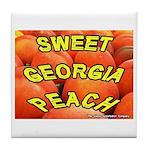 Sweet Georgia Peach Tile Coaster