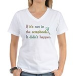 Scrapbooking Facts Women's V-Neck T-Shirt