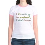 Scrapbooking Facts Jr. Ringer T-Shirt
