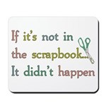 Scrapbooking Facts Mousepad