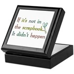 Scrapbooking Facts Keepsake Box