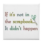 Scrapbooking Facts Tile Coaster