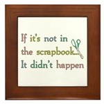 Scrapbooking Facts Framed Tile