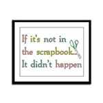 Scrapbooking Facts Framed Panel Print