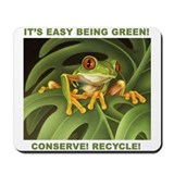 """Conserve! Recycle!"" Mousepad"