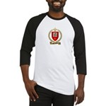 BOURBEAU Family Crest Baseball Jersey