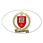 BOURBEAU Family Crest Oval Sticker
