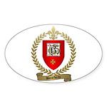 BOURBEAU Family Crest Oval Sticker
