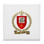BOURBEAU Family Crest Tile Coaster