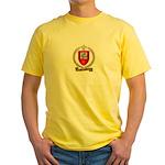 BOURBEAU Family Crest Yellow T-Shirt