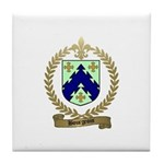 BOURGEOIS Family Crest Tile Coaster
