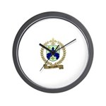 BOURGEOIS Family Crest Wall Clock