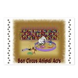 """Ban Circus Animal Acts"" Postcards (Pack"