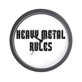 Heavy Metal Rules Wall Clock