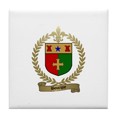 BOURQUE Family Crest Tile Coaster