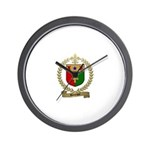 BOURQUE Family Crest Wall Clock