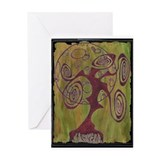 Red Tree Of Life Greeting Card