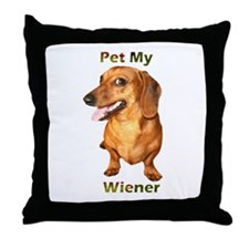Pet My Wiener Throw Pillow