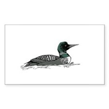 Loon Rectangle Decal