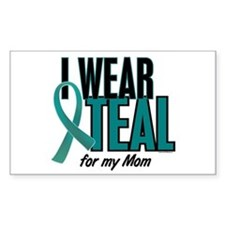 I Wear Teal For My Mom 10 Rectangle Decal