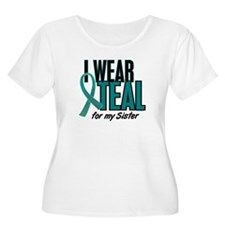 I Wear Teal For My Sister 10 T-Shirt