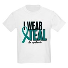 I Wear Teal For My Cousin 10 T-Shirt