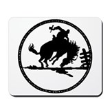 Rodeo Bronco Rider Mousepad