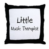 Little Music Therapist Throw Pillow