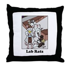 Lab Rats Throw Pillow