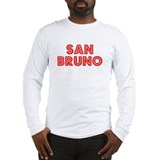 Retro San Bruno (Red) Long Sleeve T-Shirt