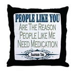 Medications Throw Pillow