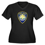 San Diego Port PD Women's Plus Size V-Neck Dark T-