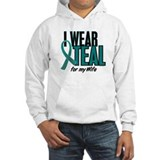 I Wear Teal For My Wife 10 Jumper Hoody