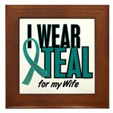 I Wear Teal For My Wife 10 Framed Tile