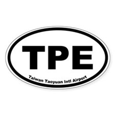 Taiwan Taoyuan Intl Airport Oval Decal