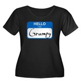 Grumpy Women's Plus Size Scoop Neck Dark T-Shirt