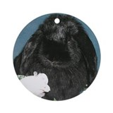 Black Velvet Ornament (Round)